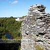 Cilgerran Castle, looking down over the River Teifi.