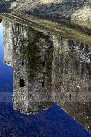 Llawhaden Castle<br /> Reflections, never seen water in the moat before, so I got a bit carried away!