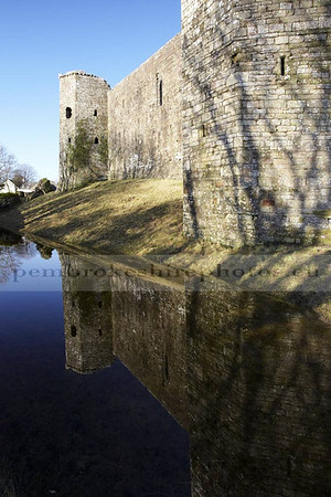 Llawhaden Castle<br /> Never seen water in the moat before, so I got a bit carried away!