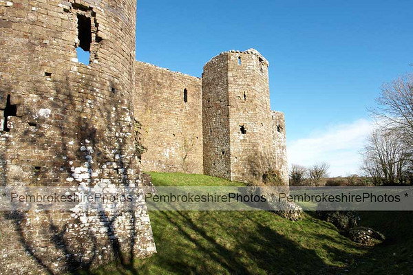 Llawhaden Castle.