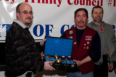 April 1, 2009 - Fr. Steven Kieta presented a priests travel kit by the Knights of Columbus