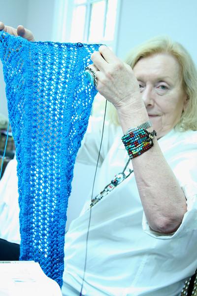 Carolyn's lace scarf.