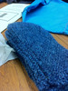 Fingerless mitts for Nancy from Robin.