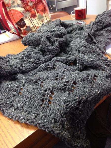 One of Hyatt's many blankets. <br /> February, 2014.