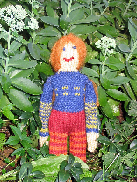 Here's a doll for Abby knit from a Jo Sharp pattern & yarn.