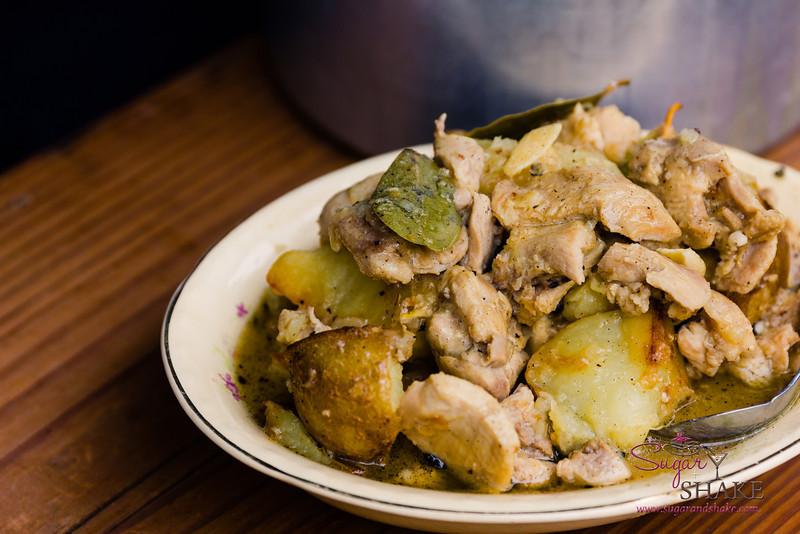 """Chicken (or Pork) Adobo. """"Now"""" Pairing:  Garlic Lemongrass Pork. © 2014 Sugar + Shake"""