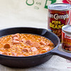 "Pork and Beans with Vienna Sausage. ""Now"" Pairing: Hukilau's Famous Prime Rib Chili and Rice. © 2014 Sugar + Shake"
