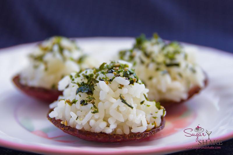"Goteborg  ""UFOs.""  ""Now"" Pairing: New York Steak with Hāmākua Ali'i Mushroom and Truffle-Edamame Cream Risotto. © 2014 Sugar + Shake"