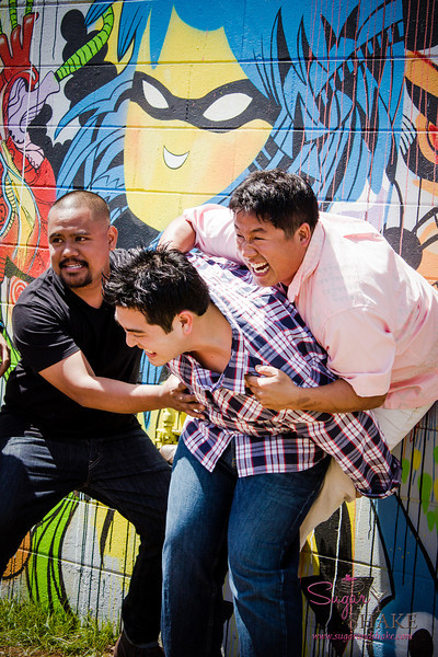 """22 Things: Nos. 2 & 3 (Chefs & Bartenders)"" photo shoot for HAWAI'I Magazine — Sheldon Simeon, Mark ""Gooch"" Noguchi & Chris Kajioka. © 2013 Sugar + Shake"
