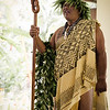 Ritz-Carlton Kapalua Cultural Director Clifford Nae'ole at the Wehe Ka Ipuka (Open the Doorway) ceremony to begin Celebration of the Arts 2014. © 2015 Sugar + Shake