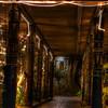 Walkway to the La Mariana bar. The Christmas lights are a permanent fixture. © Sugar + Shake