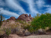 Prominent rock formation in Papago Park, just outside the zoo. Word on the street: there is a many favorited geocache here for us to come back to!