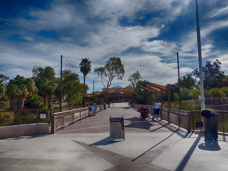 Zoo entrance, a beautiful day to visit!