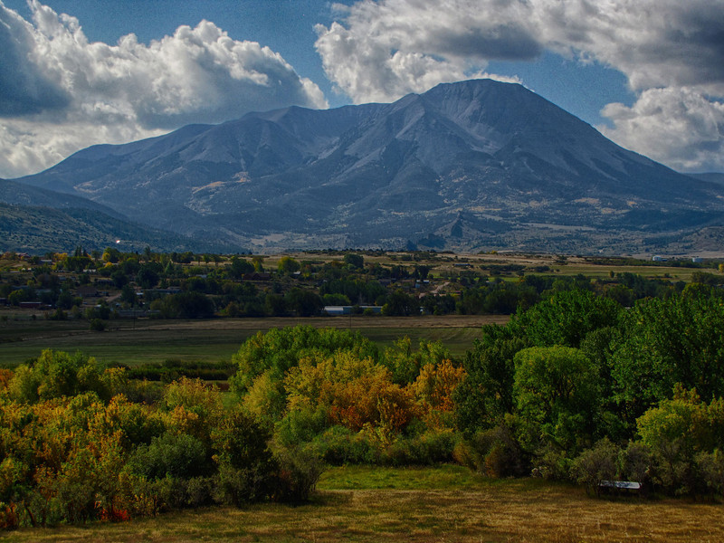 The same 3 frames rendered in HDR with HDR Efex Pro 2 by Nik Software. This composition is in the original size as shot, mounted on a tripod. In this composition is of one of the two Spanish Peaks.