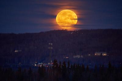 Moonrise Over Fairbanks