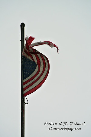 Tattered Flag at Knoxville College
