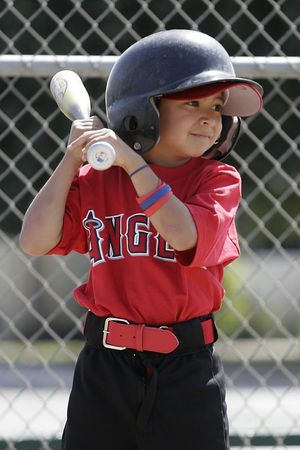 #01 Anthony Cortez at bat, Angels vs. Royals, Ocean View Pony Baseball (Shetland)