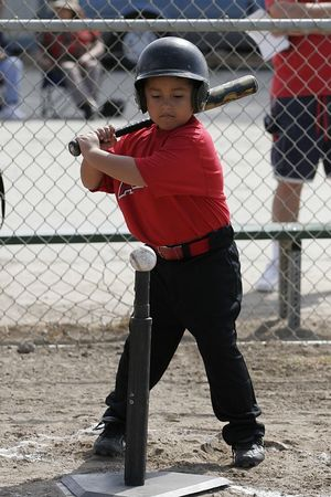 #12 Daniel Bustillos at bat, Angels vs. Royals, Ocean View Pony Baseball (Shetland)