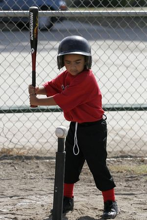 #08 Jacob Vallejo at bat, Angels vs. Royals, Ocean View Pony Baseball (Shetland)