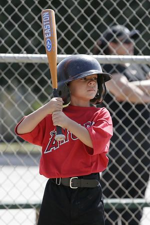 #11 Jaison Quilantang at bat, Angels vs. Royals, Ocean View Pony Baseball (Shetland)