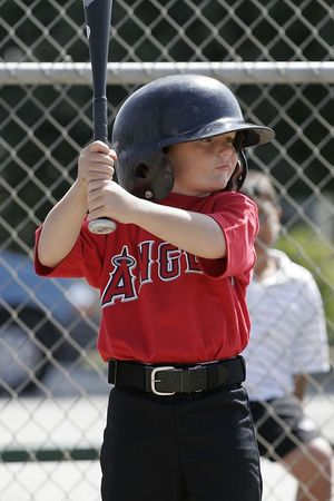 #05 Christopher Kane at bat, Angels vs. Royals, Ocean View Pony Baseball (Shetland)
