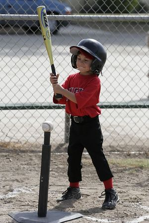#04 Breanna Loyola at bat, Angels vs. Royals, Ocean View Pony Baseball (Shetland)