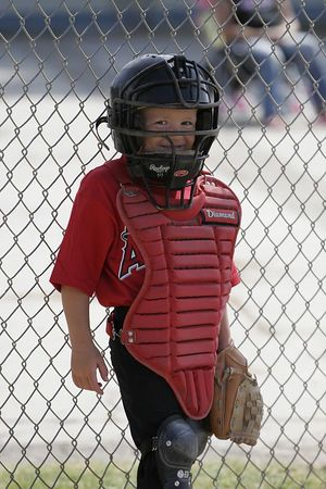 #05 Christopher Kane ready to catch, Angels vs. Royals, Ocean View Pony Baseball (Shetland)