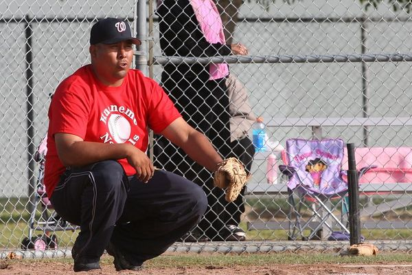 Coach Chuy Aguilera, Braves vs. Nationals, 2005 Ocean View Pony Baseball, Pinto Division