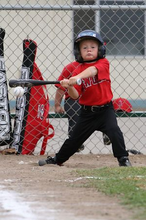 #05 Christopher Kane at bat, Royals vs. Angels, 2005 Ocean View Pony Baseball, Shetland Division