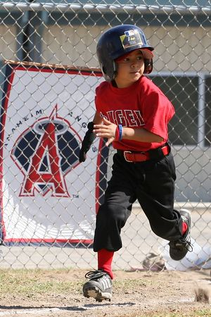 #01 Anthony Cortez, Angels vs. Tigers, 2005 Ocean View Pony Baseball, Shetland Division