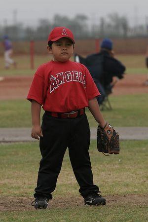 #12 Daniel Bustillos, Angels vs. Royals, 2005 Ocean View Pony Baseball, Shetland Division