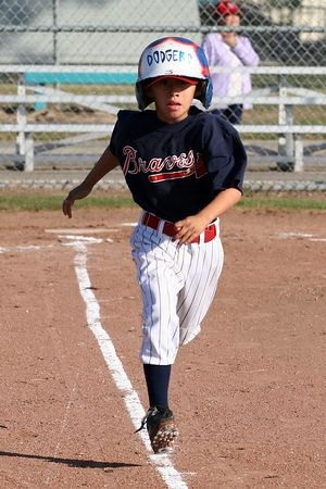 #10 Angel Romero, Braves vs. Cardinals, 2005 Ocean View Pony Baseball, Pinto Division