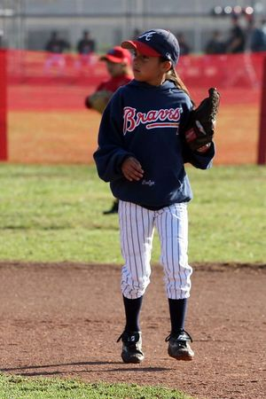 #03 Evelyn Loyola, Braves vs. Cardinals, 2005 Ocean View Pony Baseball, Pinto Division