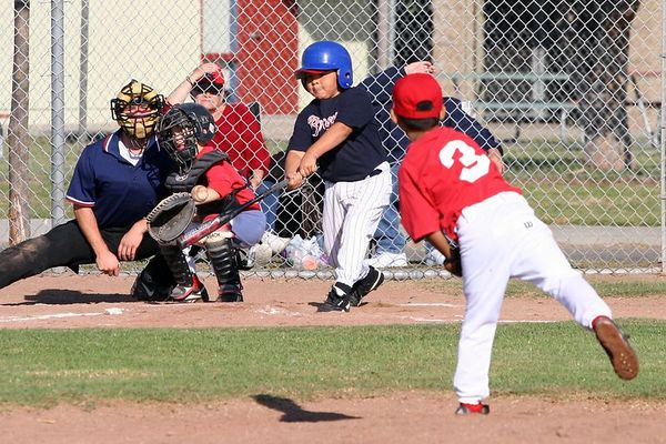 #12 Daniel Solis, Braves vs. Cardinals, 2005 Ocean View Pony Baseball, Pinto Division