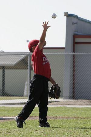 #12 Daniel Bustillos, Tigers vs. Angels, 2005 Ocean View Pony Baseball, Shetland Division