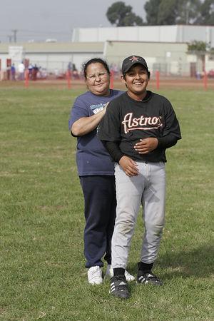 Team Mom Sylvia Ramirez and #05 Benjamin Velez Ramirez, Astros, 2005 Ocean View Pony Baseball, Pony Division