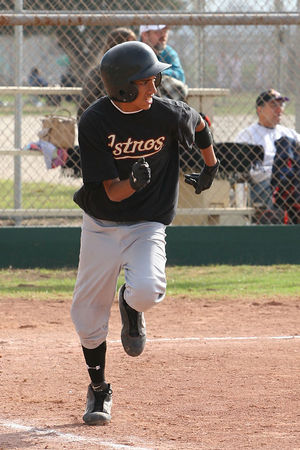 #08 Gabriel Cortez, Astros vs. Nationals, 2005 Ocean View Pony Baseball, Pony Division