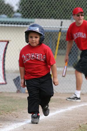 #06 Joshua Garcia, Angels vs. Braves, 2005 Ocean View Pony Baseball, Shetland Division