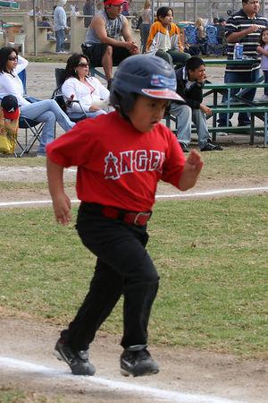 #12 Daniel Bustillos, Angels vs. Braves, 2005 Ocean View Pony Baseball, Shetland Division