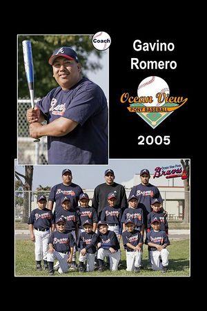 Coach Gavino Romero, Braves, Pinto Division, 2005 Ocean View Pony Baseball