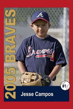 #01 Jesse Campos, Braves, 2005 Ocean View Pony Baseball, Pinto Division