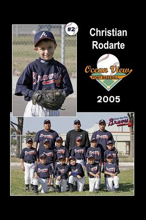 #02 Christian Rodarte, Braves, Pinto Division, 2005 Ocean View Pony Baseball
