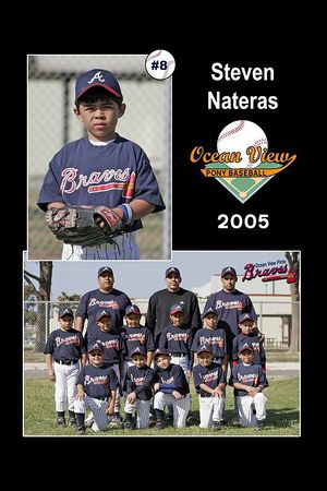 #08 Steven Nateras, Hueneme Nationals, Pinto Division, 2005 Ocean View Pony Baseball