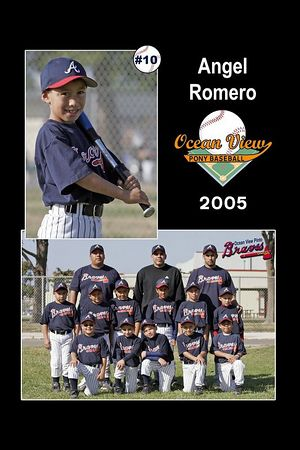 #10 Angel Romero, Braves, Pinto Division, 2005 Ocean View Pony Baseball