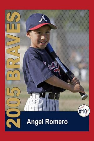 #10 Angel Romero, Braves, 2005 Ocean View Pony Baseball, Pinto Division