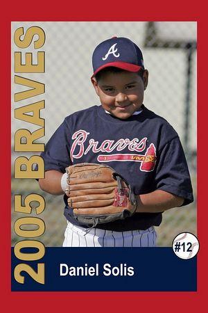 #12 Daniel Solis, Braves, 2005 Ocean View Pony Baseball, Pinto Division