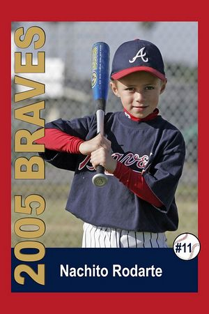 #11 Nachito Rodarte, Braves, 2005 Ocean View Pony Baseball, Pinto Division