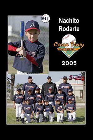 #11 Nachito Rodarte, Braves, Pinto Division, 2005 Ocean View Pony Baseball