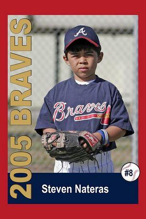 #08 Steven Nateras, Braves, 2005 Ocean View Pony Baseball, Pinto Division