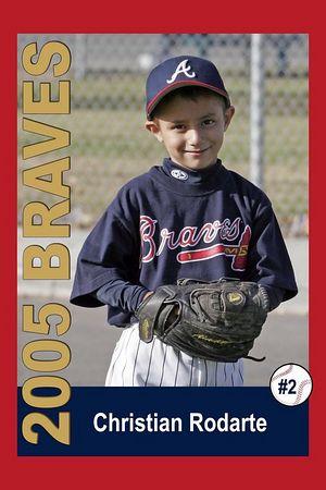 #02 Christian Rodarte, Braves, 2005 Ocean View Pony Baseball, Pinto Division